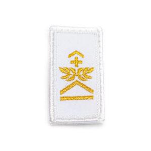 Gradabzeichen Oberwachtmeister weiss gold