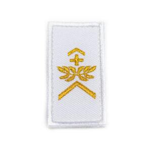 Gradabzeichen Wachtmeister weiss gold